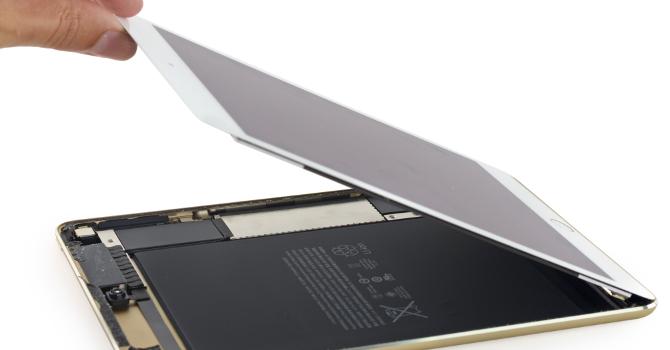 iPad mini 4 rozebrany na drobne części