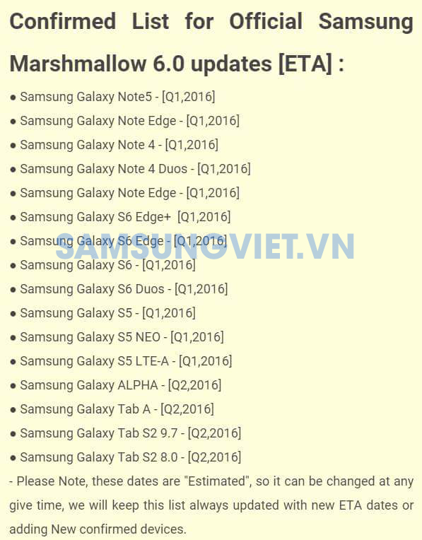 samsung android 6.0 update