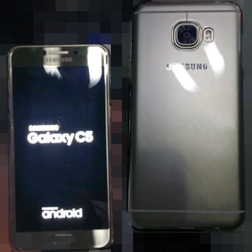 Samsung Galaxy C5 pokazany na zdjęciach