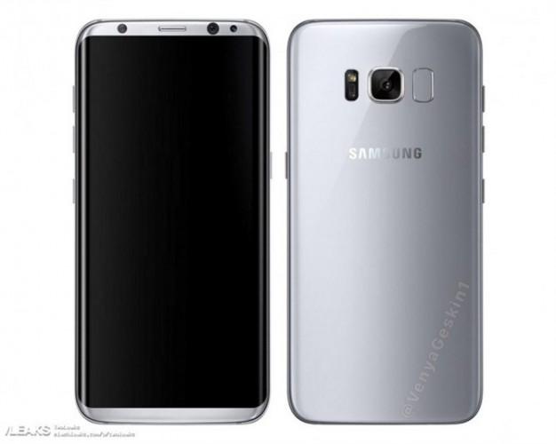 Samsung Galaxy S8 pokazany na renderze prasowym