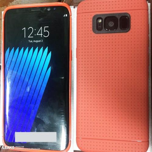 Samsung Galaxy S8 pokazany na kolejnym zdjęciu