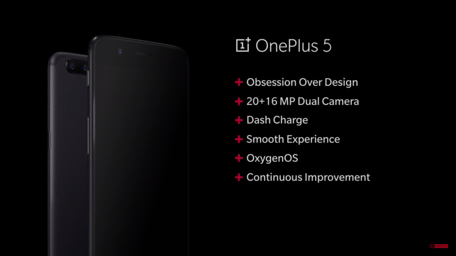 OnePlus 5 oficjalnie zaprezentowany