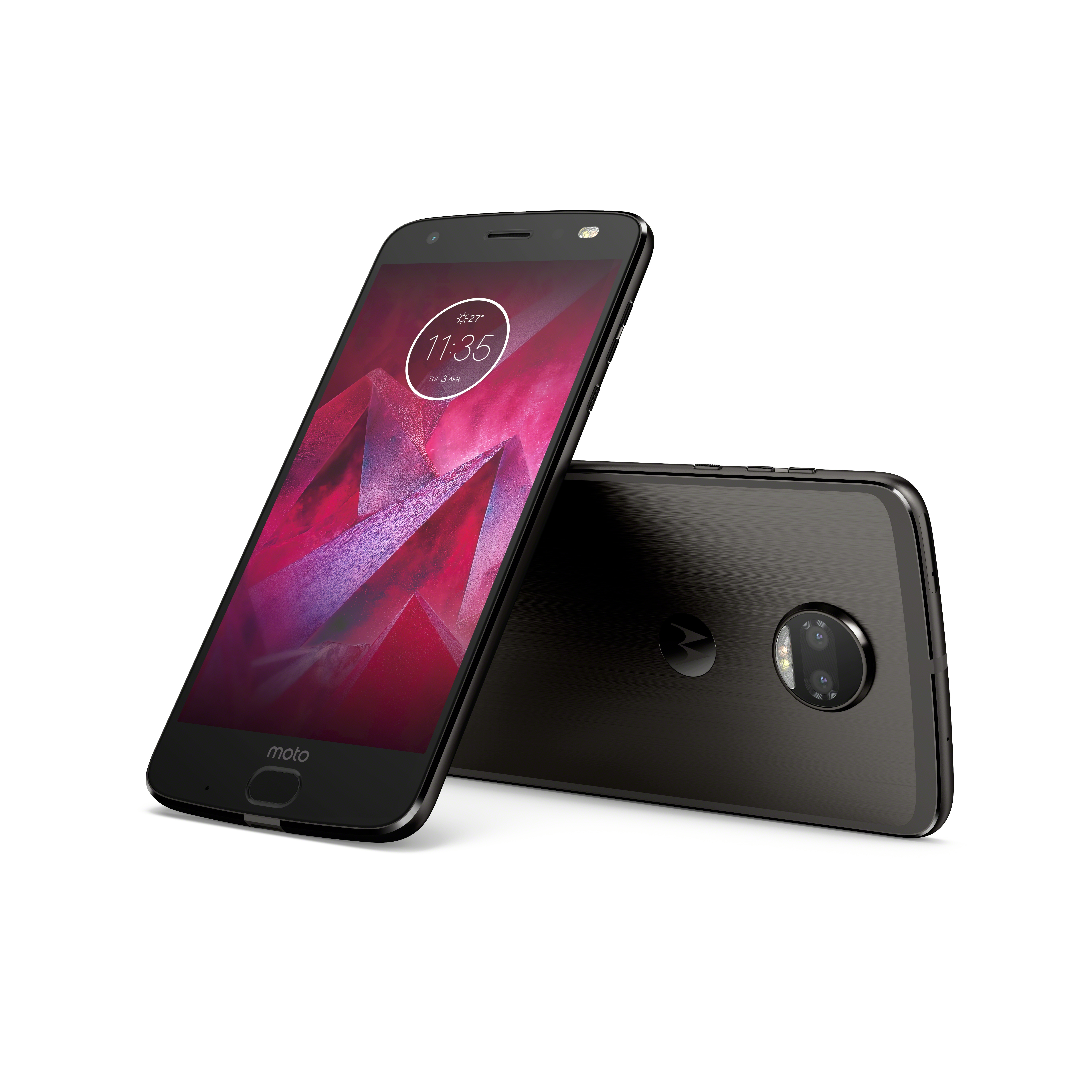 Moto Z2 Force Edition_Front Back (2)_Super Black
