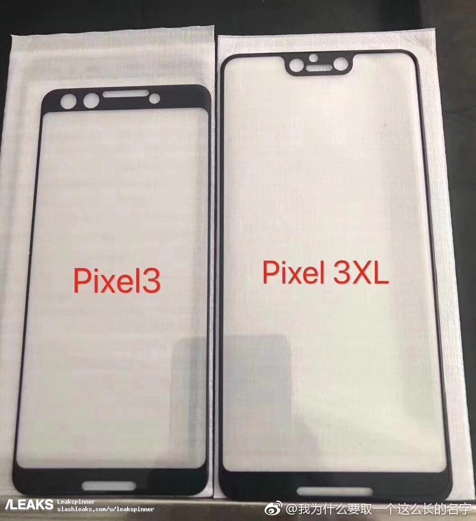 Przedni panel Google Pixel 3